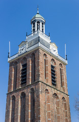 Fotomurales - Tower of the historic Maria church in Meppel, Netherlands