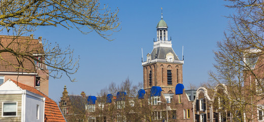 Fototapete - Panorama of the historic church tower in Meppel, Netherlands