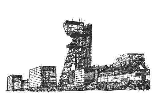 illustration of Shaft mining