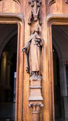 Detail of a church door in Paris