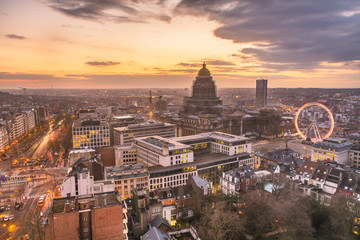 Fotomurales - Brussels, Belgium Cityscape