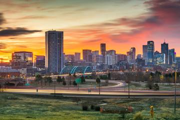 Fototapete - Denver, Colorado, USA Downtown Skyline