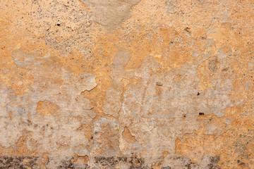 Fotobehang Oude vuile getextureerde muur Orange Grunge wall abstract texture