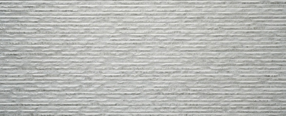 Corrugated rectangle bright white gray stone concrete texture background panorama banner long
