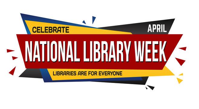 National library week banner design
