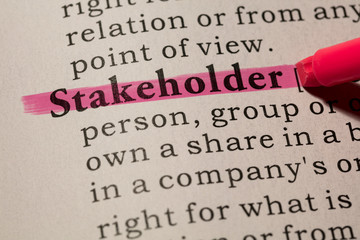 Wall Mural - definition of word stakeholder