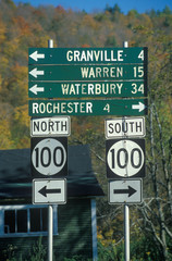 Wall Mural - Miscellaneous road signs in Vermont