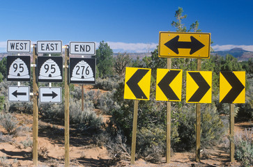 Wall Mural - Miscellaneous desert highway signs