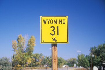 Wall Mural - A sign that reads ÒWyoming 31Ó