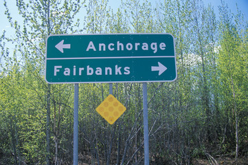 Wall Mural - A sign that reads ÒAnchorage/FairbanksÓ