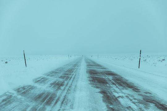Blue Morning Snowstorm