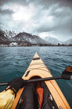 Cold Winter Kayak Storm