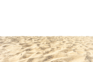 Fototapete - beach sand texture on white background