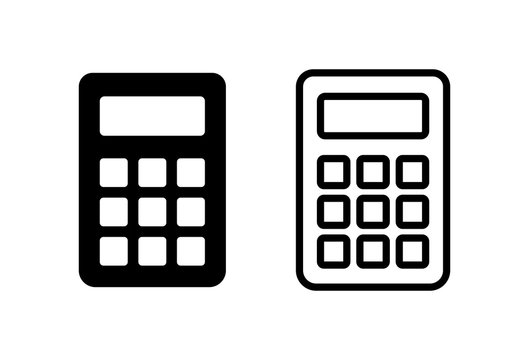 Calculator icons set on white background. Calculator vector icon