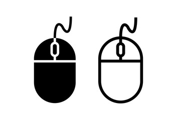 Computer Mouse Icons set on white background. Computer mouse vector icon
