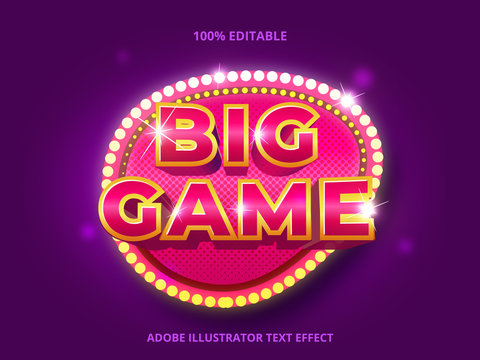 Editable text effect -  big win game style