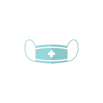 medical mask logo for protecting against virus icon illustration
