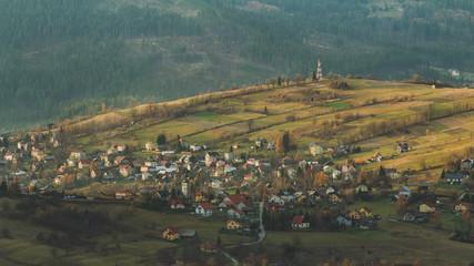Wieś Koniaków w Beskidzie Śląskim