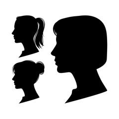 Women profiles illustration