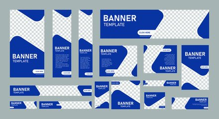 set of creative web banners of standard size with a place for photos. Vertical, horizontal and square template. vector illustration eps 10 Fototapete