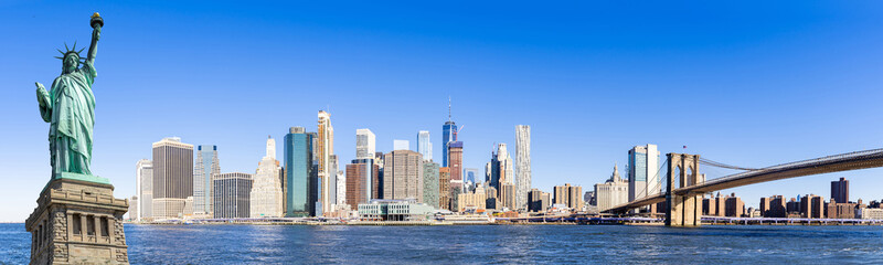 Panorama lower manhattan New York