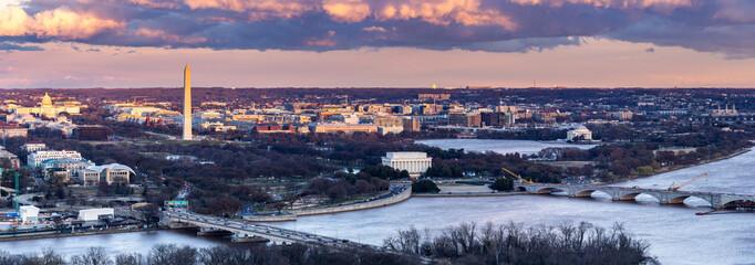 Washington DC sunset Fototapete