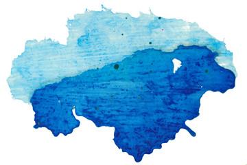 abstract painting blue splash - handmade