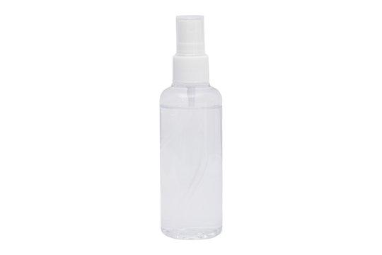 bottle spray isolated on white background .