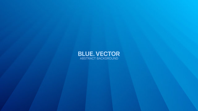 Vector Perspective Lines Clear Blank Subtle Business Deep Blue Abstract Background. Conceptual Futuristic Technology 3D Minimalist Rendered Illustration. Cyan Empty Surface Wallpaper. Blurred Backdrop