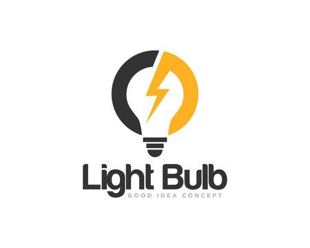 Light Bulb Logo Icon Design Vector
