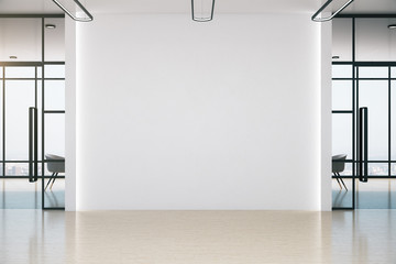 Fotomurales - Conference office room with blank white wall