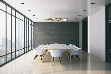 Contemporary conference office room