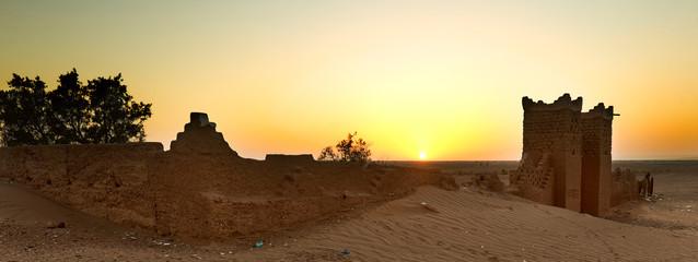 Sunset at M'Hamid El Ghizlane or Lamhamid Ghozlane.