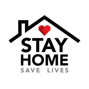 Stay at home. Coronavirus Covid-19, quarantine motivational phrase.