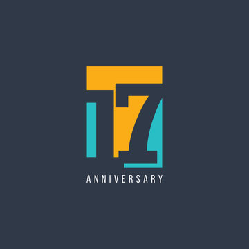 17 Th Anniversary Celebration Vector Template Design Illustration