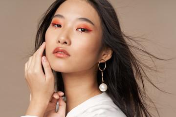 Obraz beautiful woman charm luxury lifestyle model - fototapety do salonu