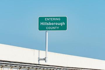 Entering Hillsborough County