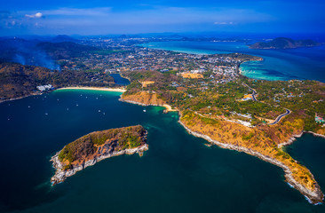 Wall Mural - Aerial view of Phuket island. Thailand