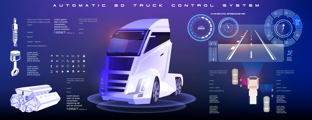 Autonomous unmanned truck control system. The operation of an unmanned truck system when approaching and overtaking a car