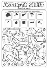 Photo sur Aluminium Enfants Activity sheet counting game 9
