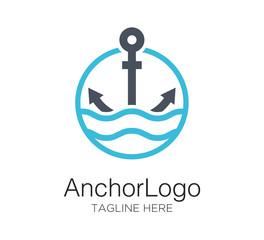anchor logo vector design concept