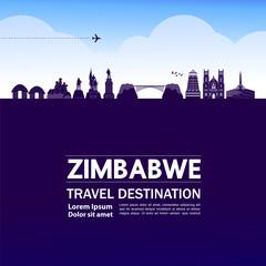 Wall Mural - Zimbabwe travel destination grand vector illustration.