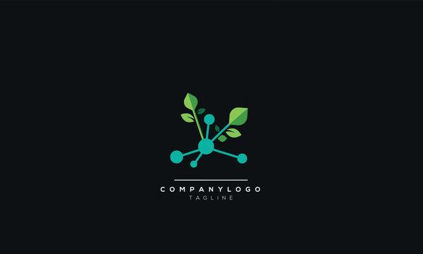 Green technology logo template vector illustration