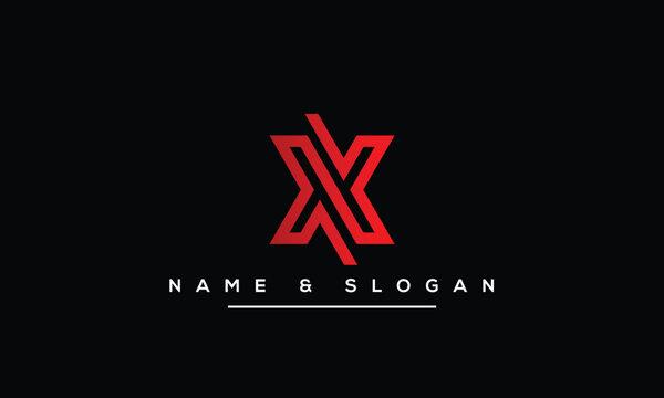 Abstract Letter X, xx Alphabet Logo Design