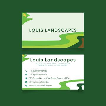 Beauty landscapes business card design template