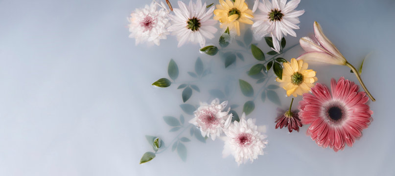 Arrangement of therapeutical flowers