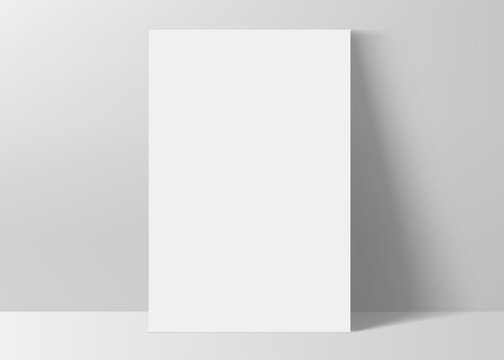 Vertical rectangle A4 paper format mock up. Vector illustration.
