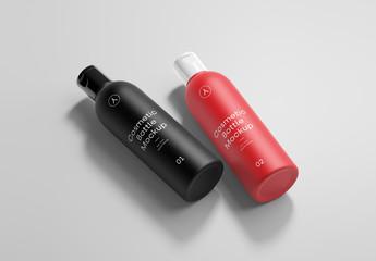 2 Cosmetic Bottles Mockup