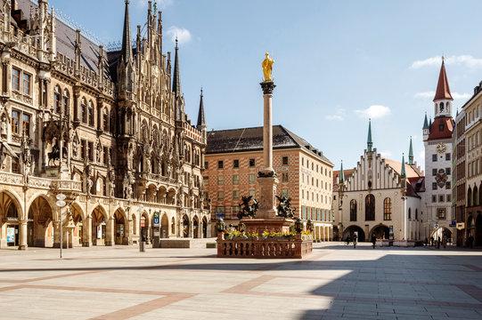 Empthy City Hall in Munich, Germany