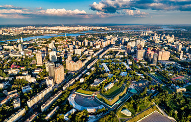 Aerial view of Pechersk, a central neighborhood of Kiev, the capital of Ukraine Fototapete